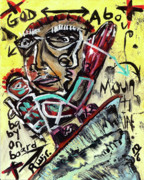 Finger Mixed Media Prints - Faith Print by Robert Wolverton Jr