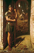 Roman Soldier Paintings - Faithful unto Death by Sir Edward John Poynter
