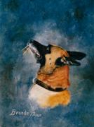 Police Art Painting Prints - Falco Print by Brenda Thour