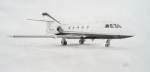 Jet Drawings Originals - Falcon 20 alone on the ramp by Nicholas Linehan