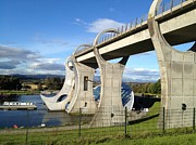 Great Britain Drawings - Falkirk Wheel by Michael McKenzie