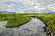 Mixed Media Photos - Fall Afternoon At steamboat springs Co. by James Steele