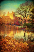 Boating Digital Art - Fall Afternoon In Central Park by Chris Lord