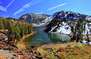 Lake Metal Prints - Fall At Ellery Lake Metal Print by David Toussaint - Photographersnature.com
