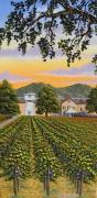 Napa Valley Vineyard Paintings - Fall at Silver Oak by Patrick ORourke