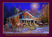 Vermont Country Store Framed Prints - Fall at the South Woodstock Country Store Framed Print by Nancy Griswold