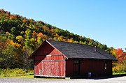 Wooden Structure Photos - Fall Color Pickens West Virginia by Thomas R Fletcher