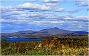 Fall Landscape Print Framed Prints - Fall Colors At Lake Carmi Framed Print by Deborah Benoit