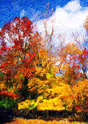 Fall Holiday Card Posters - Fall Colors Greeting Card Poster by John Rizzuto