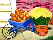 Wagon Wheels Originals - Fall Colors by Stacy Bottoms
