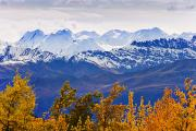 Canadian Photo Framed Prints - Fall Colours And Mountains Of Kluane Framed Print by Yves Marcoux