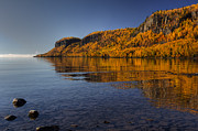 Rocky Beach Prints - Fall Colours in the Squaw Bay II Print by Jakub Sisak