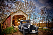 1931 Roadster Prints - Fall Country Drive Print by Bill Dutting