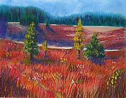 Rural Landscapes Pastels - Fall Cross the Meadow by Wynn Creasy