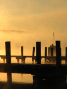 Www Greeting Cards Prints - Fall Docks Marker Print by Michael Mooney
