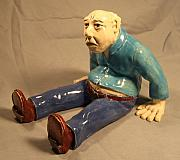 Old Man Ceramics - Fall down go boom by Bob Dann