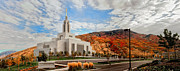 Temples Art - Fall Draper Temple by La Rae  Roberts