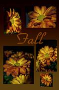Judy Hall-Folde - Fall Flowers Collage