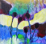 Abstract Paintings - Fall Garden by Kerri Blackman