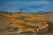 Yellowstone Mixed Media - Fall Gathering by Judy Cardinale