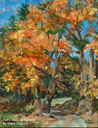 New England Village  Paintings - Fall Glory by Claire Gagnon