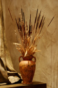Grain Posters - Fall in a Vase Still-Life Poster by Christine Till