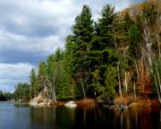 Lake Placid Ny Photo Posters - Fall in the Adirondacks 5 Poster by Maggy Marsh