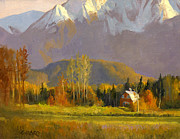 Autumn Trees Painting Prints - Fall in the Valley Print by Douglas Girard