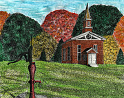 Worship God Drawings - Fall Is Coming by Mike OBrien