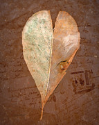 Love Letter Prints - Fall Love Letters Print by Cindy Wright