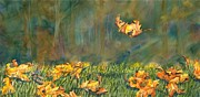 Fallen Leaf Painting Posters - Fall Poster by Melinda Wilde