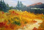 Julie Lueders Originals - Fall Mountain Meadow by Julie Lueders 