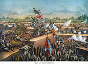 Confederate Flag Photo Posters - Fall Of Petersburg, 1865 Poster by Granger