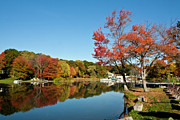 Southwick Prints - Fall On The Lake Print by Warren Carrington