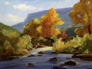 Colors Of Autumn Posters - Fall on the Pecos River Poster by Thomas Wezwick