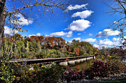 Appleton Wi Prints - Fall on the Tracks Print by Craig Ebel