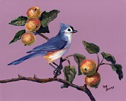 Titmouse Paintings - Fall by Pat Burns