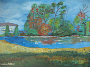 Quarry Paintings - Fall Quarry by Andrea A Patrick