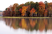 Little Rock Prints - Fall Reflection Print by CWellsPhotography