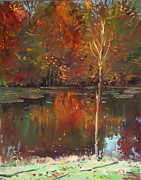 Ylli Haruni Prints - Fall Reflection Print by Ylli Haruni