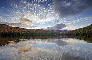 """adirondack Park""  Photo Posters - Fall Reflections at Heart Lake in Adirondack Park- New York Poster by Brendan Reals"