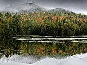 Mountain Reflection Posters - Fall Reflections in the Adirondack Mountains Poster by Brendan Reals