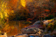 Grist Mill Art - Fall Reflections by Jeanne Sheridan