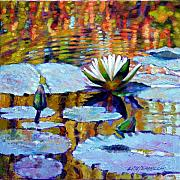 Ripples Paintings - Fall Ripples by John Lautermilch