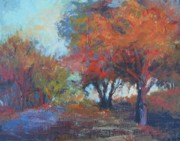 Fall Scenes Painting Framed Prints - Fall Show-Offs Framed Print by Holly Stone