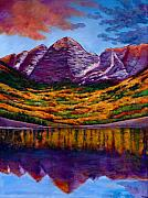 Aspen Trees Paintings - Fall Symphony by Johnathan Harris
