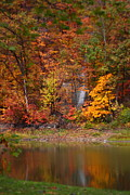 Kevin Schrader Metal Prints - Fall Waterfall Metal Print by Kevin Schrader