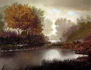 Autumn Landscape Digital Art - Fall Waters by Robert Foster
