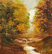 Nita Leger Casey - Fall woodland stream