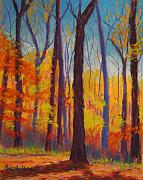 Fall Pastels - Fall Woods by Marion Derrett